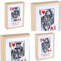 King of Hearts Wooden Light Box